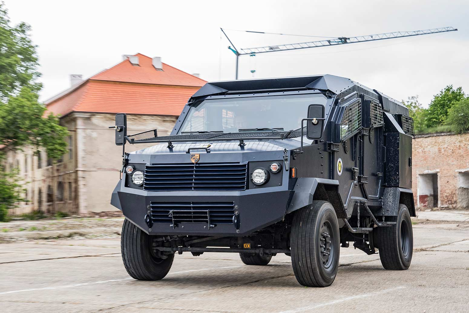 DefTech armored vehicle WOLF on military exercise.